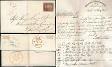 IRELAND 1846 to SCOTLAND CURRIE LETTERHEAD PAPER MERCHANTS QUAY PENNY RED IMPERF