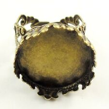 10pcs Antiqued Bronze 18*18mm Cameo Base Ring Jewelry Findings 31172