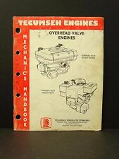 Tecumseh Engines Overhead Valve Mechanics Handbook Manual 695244