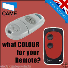 CAME GATE REMOTE CONTROL KEY FOB - TOP 432NA - UK SELLER - RED