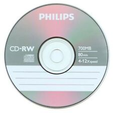 5 Pieces Philips Logo 4-12X Blank CD-RW CDRW ReWritable Disc with Paper Sleeves
