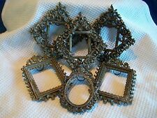 VINTAGE CAST METAL ORNATE PICTURE FRAMES MADE IN ITALY