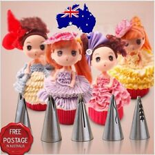 Russian Buttercream Icing Frill Piping Tip Set - Ruffle Frill 5 pce Cake Decorat