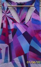 Pure Silk multicolured Warehouse beach top, Bohemian eccentric, Size 10.