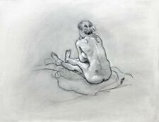 Life Drawing Nude Female Model by Keith Gunderson
