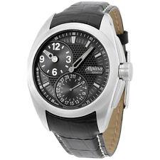 Alpina Nightlife Club Black Dial Leather Strap Men's Watch AL950B4RC6