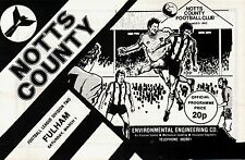 1979/80 Notts County v Fulham, Division 2, PERFECT CONDITION
