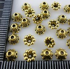 30Pcs Ancient gold Alloy Small Ends Bead Caps 5x3mm (Lead-free)