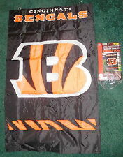 New Cincinnati Bengals Banner Flag,NFL football,2 sided 44 X 28 inch,premium