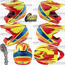 Troy Lee Designs 2017 SE3 Medium MD M Helmet Corse 2 Yellow Red Motocross Enduro