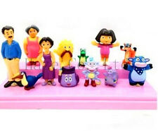 12 pcs Dora The Explorer Figure Toy Playset/Cake Topper Figurines Set Hot