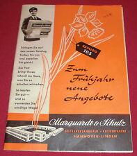 dachbodenfund versandhaus katalog 105 mode heft marquardt & schulz hannover 1956