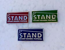3 X Stand Against Modern Football Pin Badges Ala A Guy Called Minty Rosso Bianco