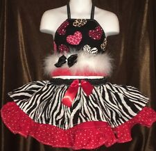 CUSTOM NATIONAL WilD VALENTiNES PAGEANT CASUAL WEAR 3T - 4T  OOc