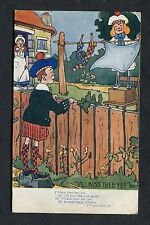 "Cartoon.Comic Card - Scot's Lad ""I'll Kiss Thee Yet"". Stamp/Postmark - 1907."
