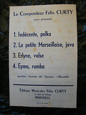 Partition Indécente La petite marseillaise Java Erlyne Eyma Félix Curty