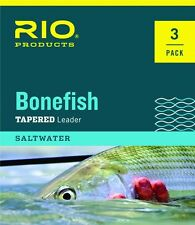 RIO 3-PACK BONEFISH 10' FOOT 10 LB SALTWATER NYLON FLY FISHING LEADERS FREE SHIP
