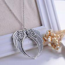Unisex V.G Jewelry Goth Retro Angel Wings Pendant Chain Necklace Jewelry