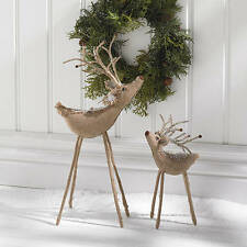 Burlap Reindeer LARGE will add interest to your Christmas season decorations!