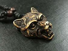 fashion male cool jewelry vintage carving head biker necklace