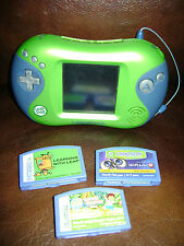 LeapFrog LEAPSTER 2 SYSTEM & 3 CARTRIDGE WALL ANIMAL RESCUE LEARNING W/LEAP
