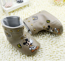 Baby boy Girl Mickey mouse Snow Boots Crib Shoes Size 12-18 Months-/a