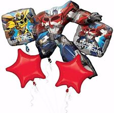 Transformers Optimus Prime Balloons Bouquet ~ Birthday Party Decoration Supplies