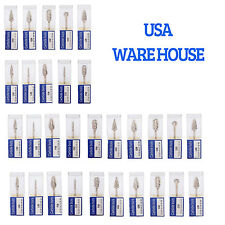 30 packs Mixed Tungsten Carbide Steel Burs Tips for Dental Marathon Polisher USA