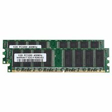 2GB 2X1GB PC3200 DDR1-400Mhz 184Pin 2.5V Dimm Desktop Low density SDRAM Memory