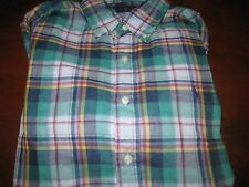 NWT MENS RALPH LAUREN PLAID DOUBLE FACED SPORT BUTTON DOWN SHIRT MEDIUM M