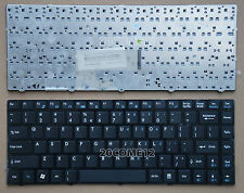New For MSI WIND U270 US270DX MS-1245 laptop Keyboard US Black Frame