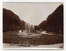 PHOTO Vintage 1910 - SENS FRANCE YONNE - Parc Jardin Fontaine Promeneurs