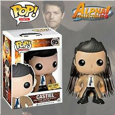 FUNKO POP #95 SUPERNATURAL CASTIEL HOT TOPIC W/ WINGS FREE S/H & PROTECTOR CASE