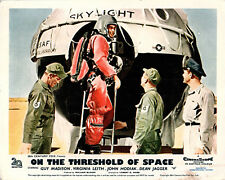 ON THE THRESHOLD OF SPACE ORIGINAL LOBBY CARD GUY MADISON 1956 SPACE PROGRAM