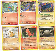 Pokemon set of common cartes (32) ex delta species