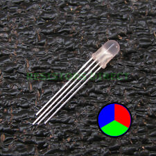 10pcs RGB LED Diffused Lens 5mm Common Cathode 4-Pin Red Green Blue USA 10x V28