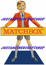 Matchbox Toys 1960's Shop Display Sign Poster Advert Point of Sale Leaflet no 2