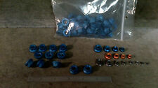 Blue Aircraft Aluminum self locking nuts 3/8-24 thread 50 pcs. speed sports
