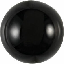 HUGE 25mm ROUND CABOCHON-CUT NATURAL AFRICAN JET-BLACK ONYX GEMSTONE
