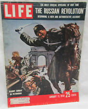 Life Magazine Jan. 13 1958 The Russian Revolution - Bloody Sunday In Petrograd