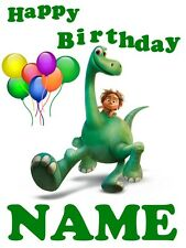 Custom GOOD DINOSAUR Movie t shirt  Personalize Birthday gift favor party