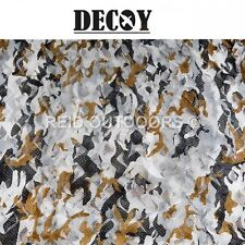 Decoy Luxus Camo Netting 1.5m x 4m - Perfect for Hunting/Paintballing/Army