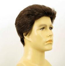 Perruque homme 100% cheveux naturel châtain ref QUENTIN 6spw