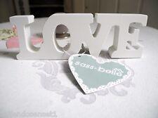 Love Scritta shabby chic legno crema Targa In Legno Scrita Casa di campagna 009