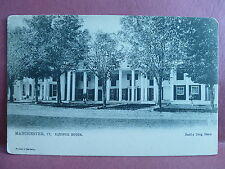 Old Postcard VT Manchester Equinox House by Hard's Drug Store Tucks Pre 1908