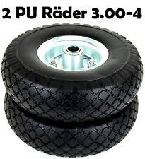 2x PU Rad 3.00-4 Ø260mm Vollgummi Räder Bollerwagen Ersatz Karre Ersatzräder N16