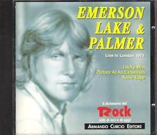 "EMERSON,LAKE E PALMER - RARO CD MADE IN ITALY 1991 "" LIVE IN LONDON 1971 """