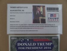 DONALD TRUMP, 11-07-2016, SNHU ARENA, MANCHESTER NH. OFFICIAL RALLY EVENT TICKET