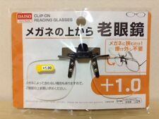 DAISO JAPAN Optical Clip-on Flip-up Magnifying Reading Glasses +1.00 by Airmail