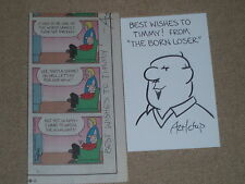 "Chip Sansom  hand drawn & signed Original Sketch & ComicStrip ""THE BORN LOSER"""
